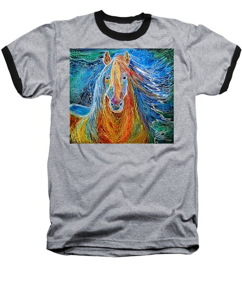 Midnightsun Equine Batik Baseball T-Shirt