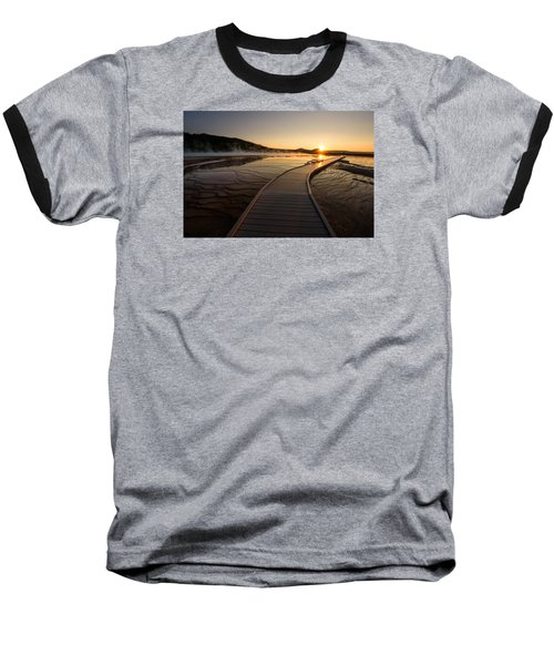 Midway Basin Sunset Baseball T-Shirt