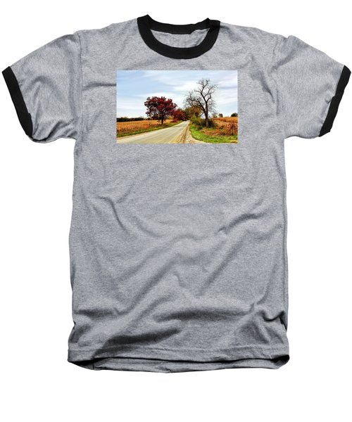 Midwest Autumn  Baseball T-Shirt by Pat Cook