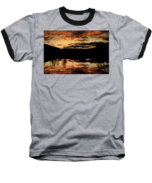 Midwinter Sunrise Baseball T-Shirt