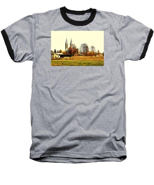 Miedzierza Church Baseball T-Shirt by Henryk Gorecki