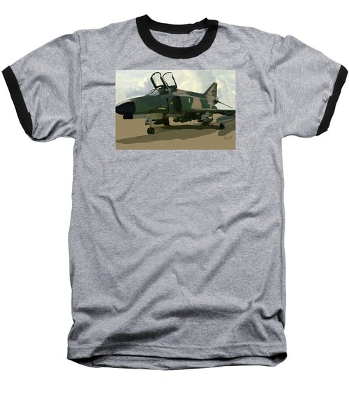 Baseball T-Shirt featuring the digital art Mig Killer by Walter Chamberlain