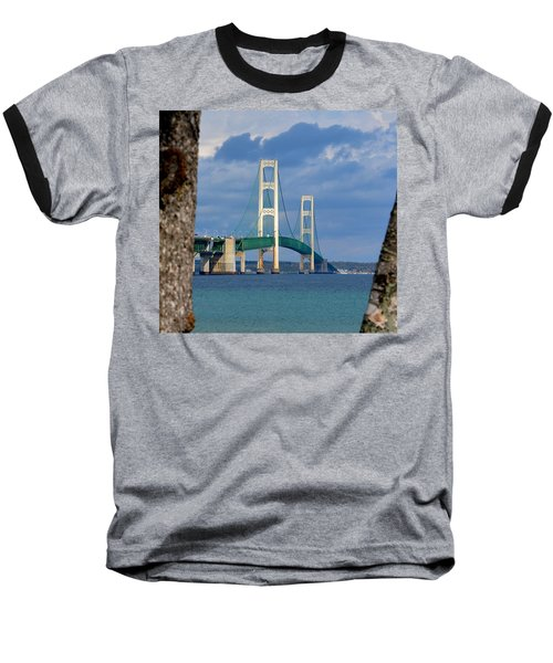 Mighty Mac Framed By Trees Baseball T-Shirt by Keith Stokes