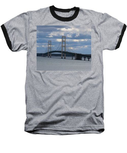Mighty Mac The Mackinac Bridge Baseball T-Shirt