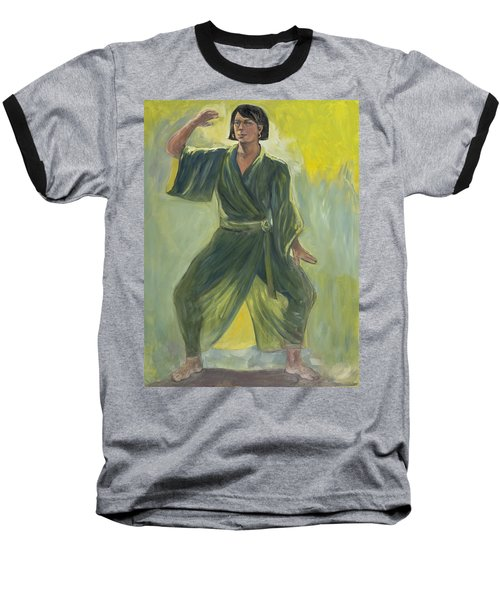 Mighty Woman Kick-butt Baseball T-Shirt