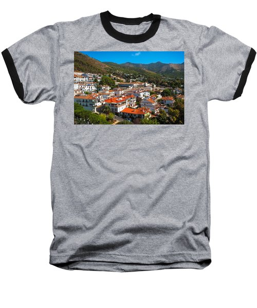 Baseball T-Shirt featuring the photograph Mijas Village In Spain by Jenny Rainbow
