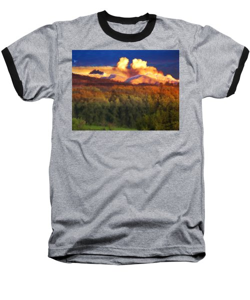 Milagro Cloud Theater Over Truchas Peaks Nm Baseball T-Shirt