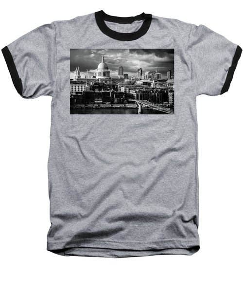 Milennium Bridge And St. Pauls, London Baseball T-Shirt