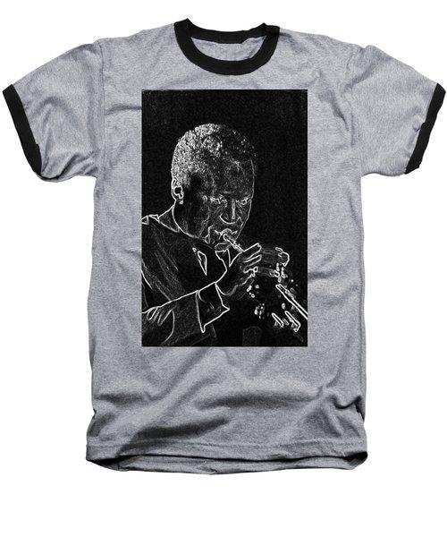 Miles Davis Baseball T-Shirt by Charles Shoup