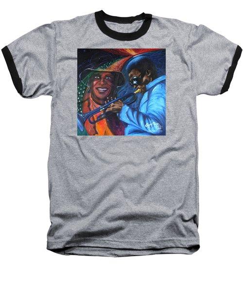 Blaa Kattproduksjoner            Miles Davis - Smiling Baseball T-Shirt