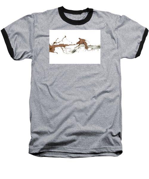 Milk And Liquid Chocolate Splash Baseball T-Shirt