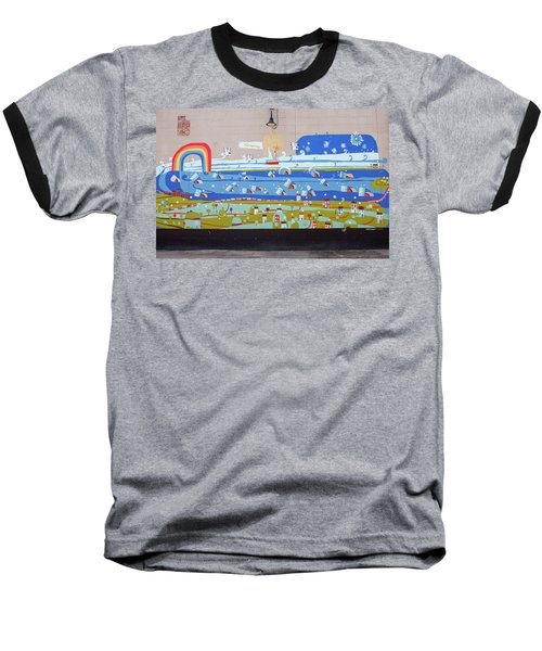 Baseball T-Shirt featuring the photograph Milk Mural by Jean Haynes