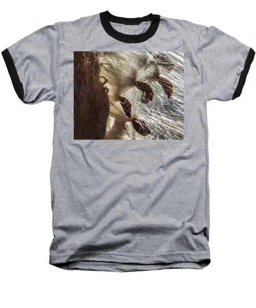 Milkweed Seed Burst Baseball T-Shirt