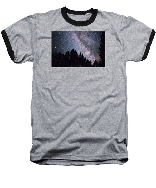 Milky Way Above The Bighorns Baseball T-Shirt