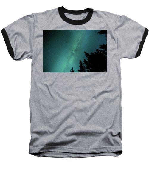Milky Way Above The Trees Baseball T-Shirt