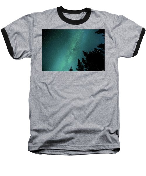 Milky Way Above The Trees Baseball T-Shirt