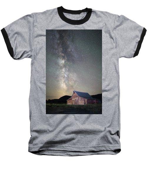 Milky Way And Barn Baseball T-Shirt