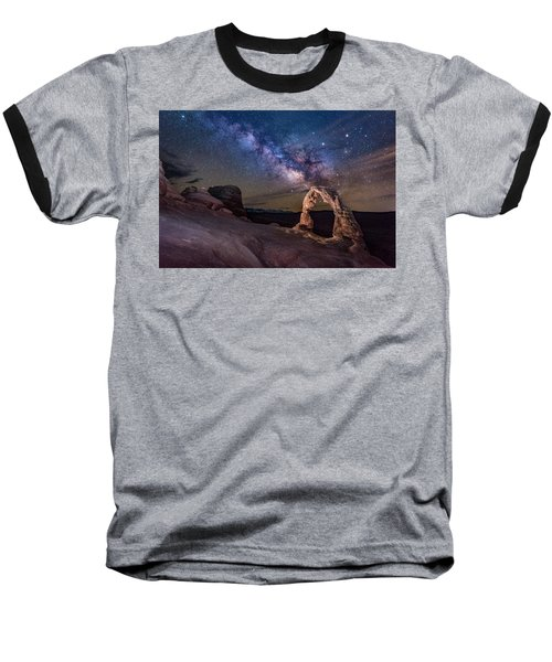 Milky Way And Delicate Arch Baseball T-Shirt