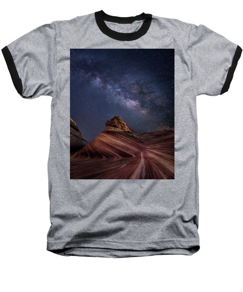 Milky Way And The Wave Baseball T-Shirt