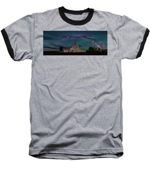 Milky Way Arch Over Moulton Barn Baseball T-Shirt