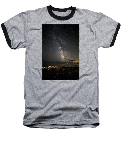 Milky Way At Pemaquid Baseball T-Shirt