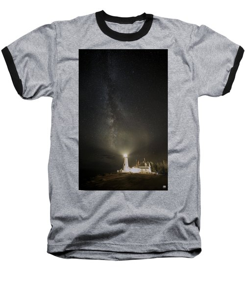 Milky Way At Pemaquid Light Baseball T-Shirt