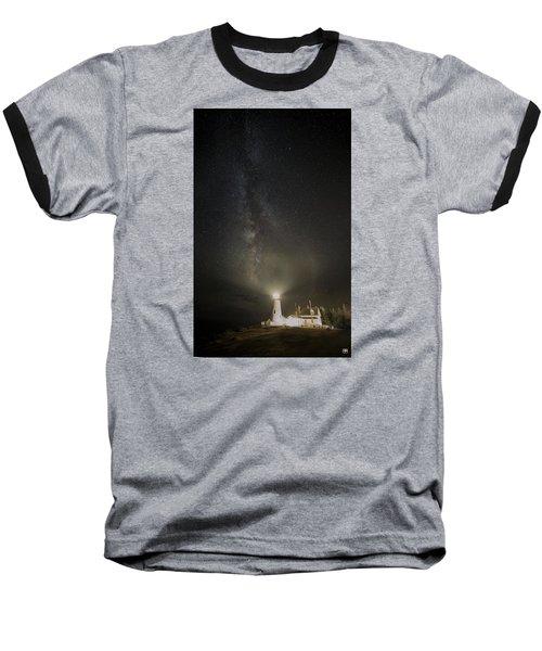 Milky Way At Pemaquid Light Baseball T-Shirt