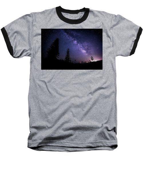 Milky Way At Powder Mountain Baseball T-Shirt