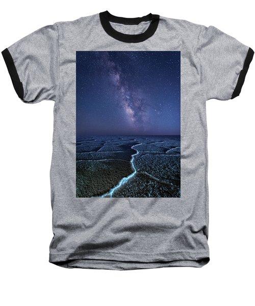Milky Way At The Salt Flats Baseball T-Shirt