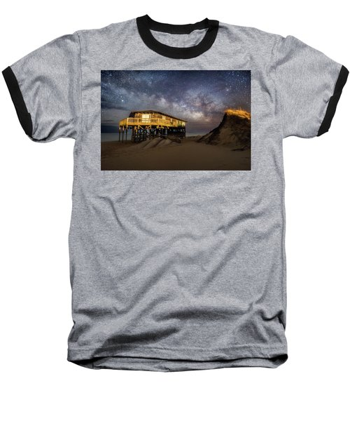 Milky Way Beach House Baseball T-Shirt