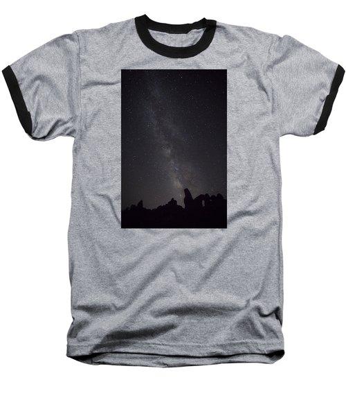Milky Way Galaxy At Arches National Park Baseball T-Shirt
