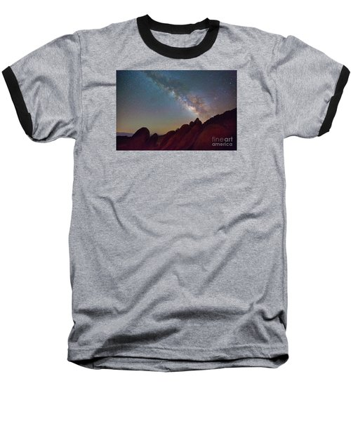 Milky Way In The Alabama Hills Baseball T-Shirt
