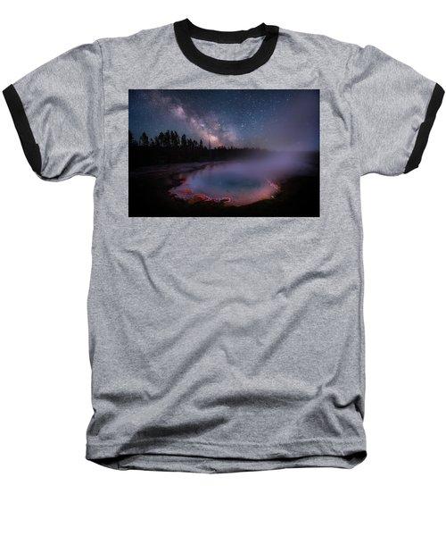 Milky Way In Yellowstone Baseball T-Shirt