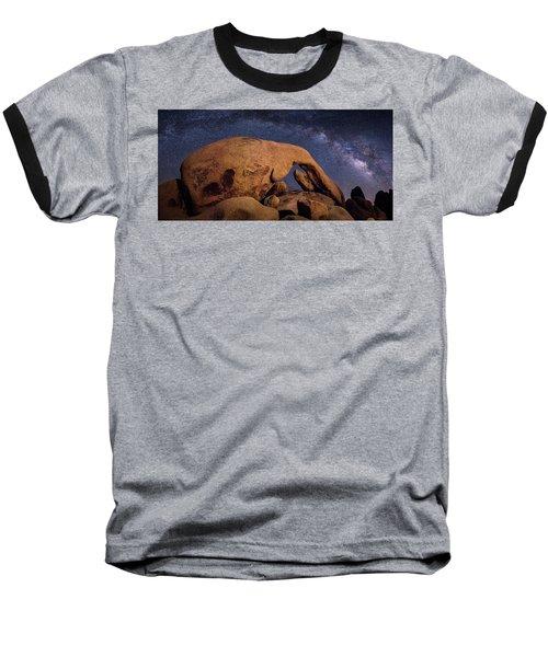 Milky Way Over Arch Rock Baseball T-Shirt