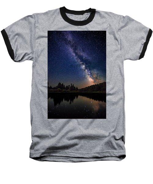 Milky Way Over The Deschutes River Baseball T-Shirt
