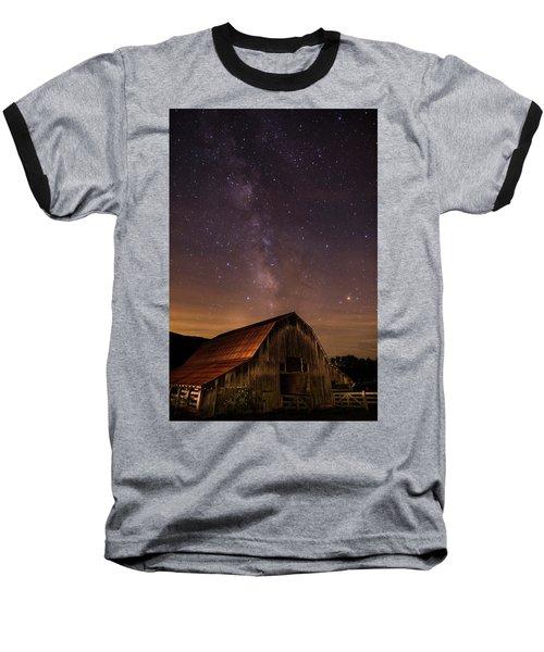 Milky Way Over Boxley Barn Baseball T-Shirt