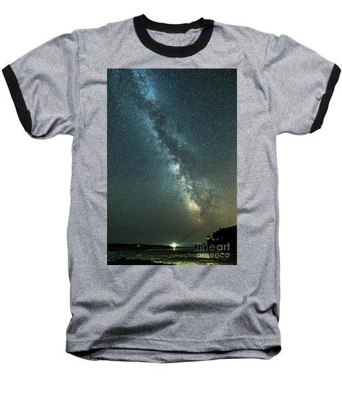 Milky Way Over Clams Flats Baseball T-Shirt
