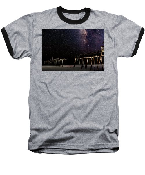 Milky Way Over Frisco Baseball T-Shirt
