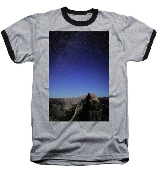 Milky Way Over Half Dome Baseball T-Shirt