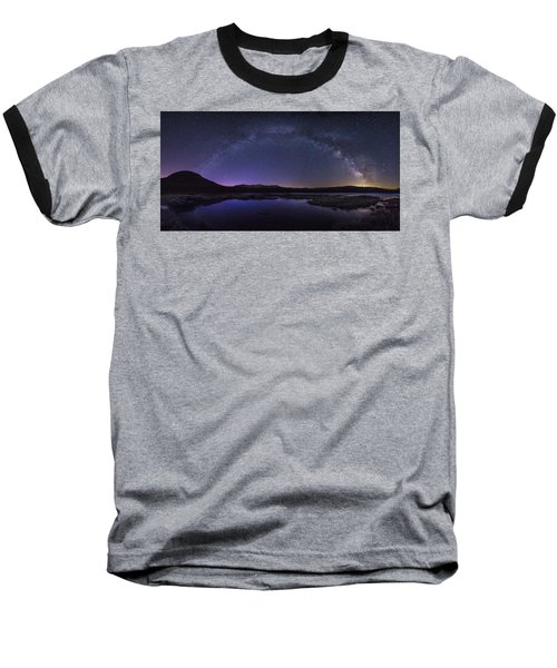 Milky Way Over Lonesome Lake Baseball T-Shirt