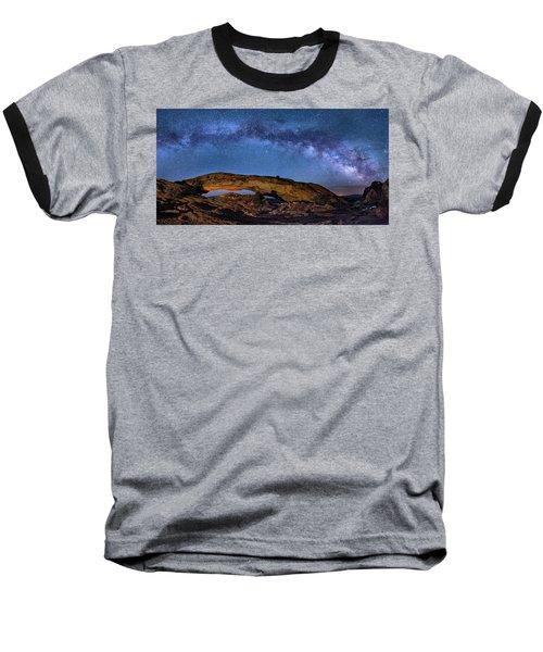 Milky Way Over Mesa Arch Baseball T-Shirt