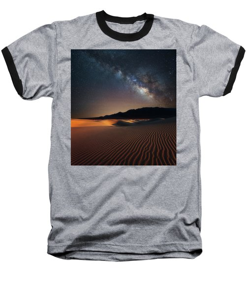Baseball T-Shirt featuring the photograph Milky Way Over Mesquite Dunes by Darren White