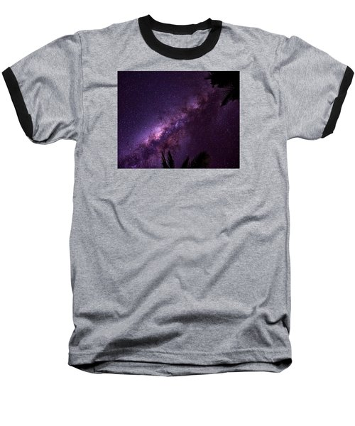 Baseball T-Shirt featuring the photograph Milky Way Over Mission Beach by Avian Resources