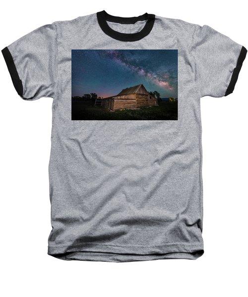 Milky Way Over Moulton Barn Baseball T-Shirt