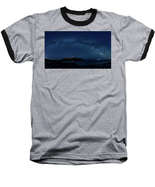 Milky Way Over Nubble Baseball T-Shirt