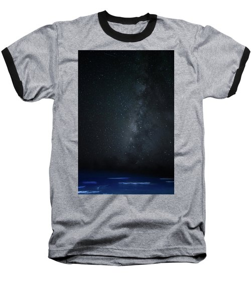 Baseball T-Shirt featuring the photograph Milky Way Over Poipu Beach by Roger Mullenhour