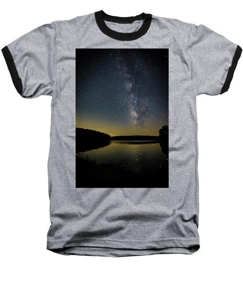 Milky Way Over Price Lake Baseball T-Shirt