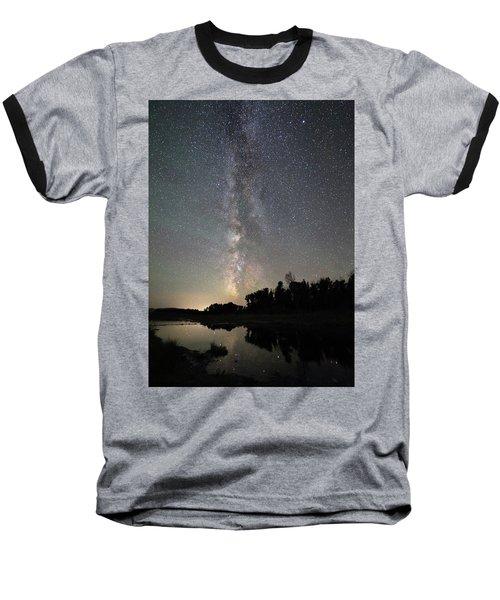 Milky Way Over Schwabacher's Landing Baseball T-Shirt