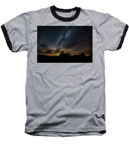 Milky Way Over The Blue Ridge Baseball T-Shirt