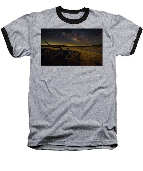 Milky Way Over The Canyon  Ranch Baseball T-Shirt
